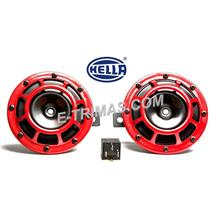 Hella Super Tone High Low Twin Disc Horn Set with Relay