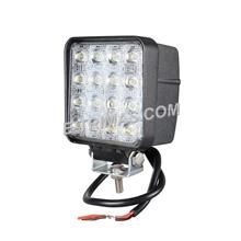 48W 16 LED Square Work Lamp Off-Road Flood Sport Light Boat Tractor Truck (1PC
