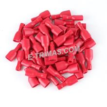Fully Insulated Female Disconnects Terminal Red (10PCS)