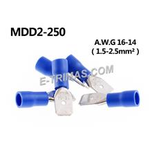 Insulated Male Connector Pin Blue (10PCS)
