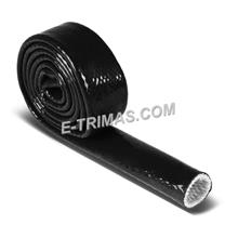 Flexible Silicone Fiberglass Sleeving Black Heat-Shielded Fire Sleeve (5M)