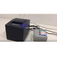 QMS Printer with button MCU