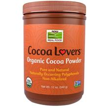 Now Foods, Pure & Organic Cocoa Powder, Vegetarian (340 g)