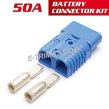 50AMP Anderson Plug Battery Power Cable Supply Forklift Tractor Charger Socket