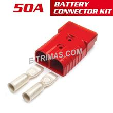 50A High Current Anderson Style Red Connector Supply Socket Kit