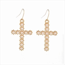 Korean Fashion Cross Earrings PEARL