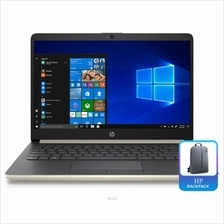HP Notebook 14s Celeron-N4000 [256GB] 4GB SSD UMA W10 Home Pale Gold with Back)