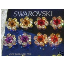 6mm 6200 Swarovski Crystal Flower Motif 4mm 5301 24 Colour Choices
