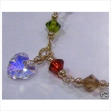 14K Gold Filled Swarovski Crystal Suasa Anklet Colours