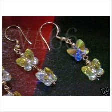 14K Gold Filled Swarovski Butterfly Earrings 12 Colour Choices