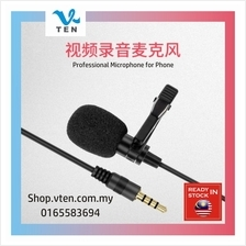 3.5mm Mini Microphone Wired Mikrofon for Phone Youtuber Recorder