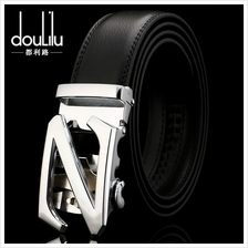 DOULILU Men Leather Automatic Buckle Waist Belt Tali Pinggang 257
