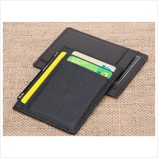Genuine DKER Cowhide Leather Men Slim Wallet Card Pouch D3010