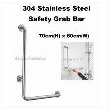 L Shape 304 Stainless Steel Bathroom Toilet Safety Grab Bar 2440.1