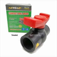 "PVC COMPACT BALL VALVE THREADED (1/2 "", 3/4 "", 1 "", 1 1/4 &quot"
