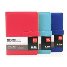 deli Bright Color Notebook 8.5' in PU Leather Cover