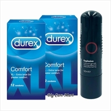 Durex Comfort XL Condoms 12sX2box + Warming Lubricant 50ml