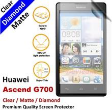 Premium Diamond Matte Clear LCD Screen Protector Huawei Ascend G700