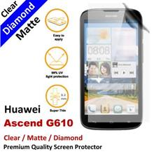 Premium Diamond Matte Clear LCD Screen Protector Huawei Ascend G610