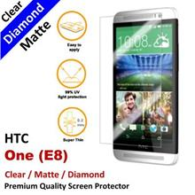 Premium Diamond Matte Clear LCD Film Screen Protector HTC One E8