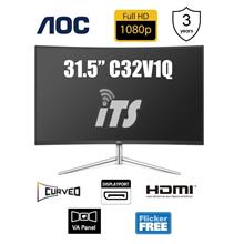 AOC 31.5' C32V1Q Curved VA FHD, Low Blue Mode, Flicker Free)