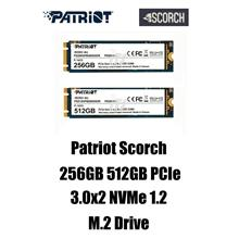 Patriot SCORCH PCIe 3.0x2 NVME 1.2 M.2 SSD (256GB/512GB)