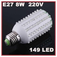 8W 149 LED E27 Corn Led Light Bulb Lamp Cool White NEW 1015