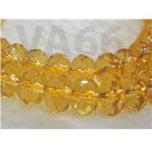 DIY Gold Yellow Citrine Facetted Donut 8mm Gemstones Rondelles Batu