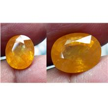 YELLOW  SAPPHIRE OVAL CUT NATURAL