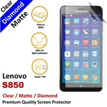 Premium Diamond Matte Clear LCD Film Screen Protector Lenovo S850