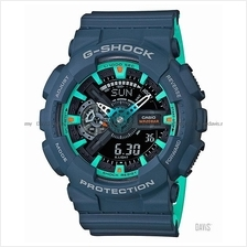 CASIO GA-110CC-2A G-SHOCK ana-digi bi-color resin strap navy blue SC