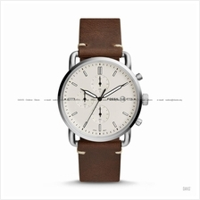 FOSSIL FS5402 Men's The Commuter Chronograph Leather Strap Brown