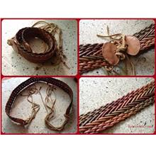 **Incendeo** - Hand Made Genuine Leather Tie-up Belt