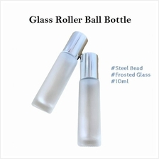 Frosted Glass Roller Ball Bottle, DIY Essential Oil, Perfume (10ml)