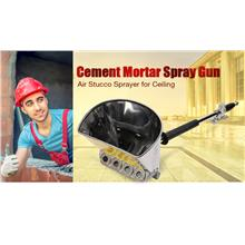 Cement Mortar Plaster Hopper Spray Gun Air Stucco Sprayer for Ceiling