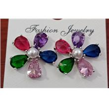 Fashion ear ring - colourful flower