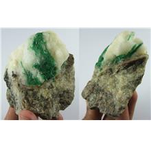 Huge!!! Green emerald rough stone from SWAT Pakistan - 1418CT - ER100