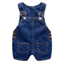 Korea High Quality Baby Sleeveless Soft Jean Short Pant Jumpsuit
