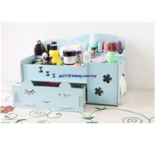 Creative Wooden Jewelry and Cosmetic Storage Box