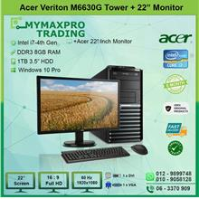 Acer Veriton M6630G MT i7 4th Gen 8GB 1TB HDD + 22' LED W10P