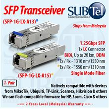 SUBTel SFP-1G-LX-A13 / A15 20km SFP Transceiver module Single Mode LC