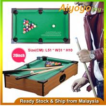 "20 "" Wooden Portable Compact Mini Tabletop Pool table Snooker Game Billia"