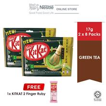 Nestle KITKAT 2F Green Tea Chocolate pack 8x17g Free KITKAT 2F Ruby