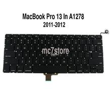 Replacement Apple Macbook Pro 13 In A1278 US Layout Keyboard 2011-2012