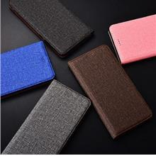 OnePlus 6 7 Pro Leather Fabric Card Slot Flip Jean Case Casing Cover