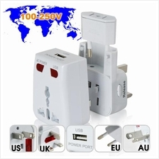 New Universal Travel AC Power Adapter + USB POWER PORT 5V .