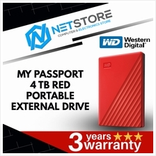 Western Digital 4TB MY Passport Red Portable Drive WDBPKJ0040BRD-WESN