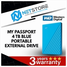 Western Digital 4TB MY Passport Blue Portable Drive WDBPKJ0040BBL-WESN