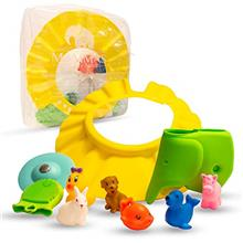 Baby Shower Gift Set for Bathtime - Fun and Vibrant 10 Pc Gifts; 6 Bath Toys,