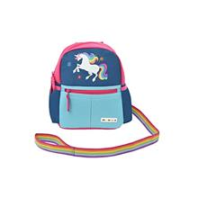 Alphabetz Unicorn Toddler Backpack with Leash, Pink, Blue, Universal Size for